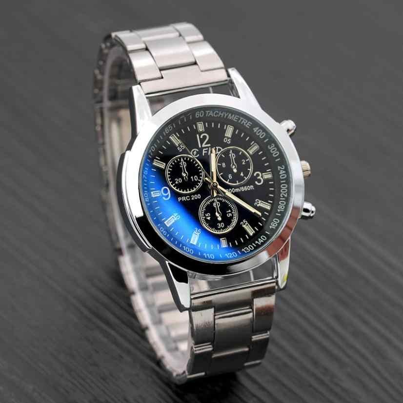 2019 นาฬิกาผู้ชายใหม่แฟชั่นแบรนด์ Luxury Retro Design คุณภาพสูงสแตนเลสสตีลเงิน Erkek Kol Saati