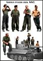 Modelos em escala 1/35 SEGUNDA GUERRA MUNDIAL alemão panzer crew incluem 5 soldados da SEGUNDA GUERRA MUNDIAL Resina Modelo Frete Grátis