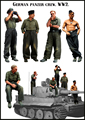 Scale Models 1/35  WWII german panzer crew include 5 soldiers     WWII Resin Model Free Shipping