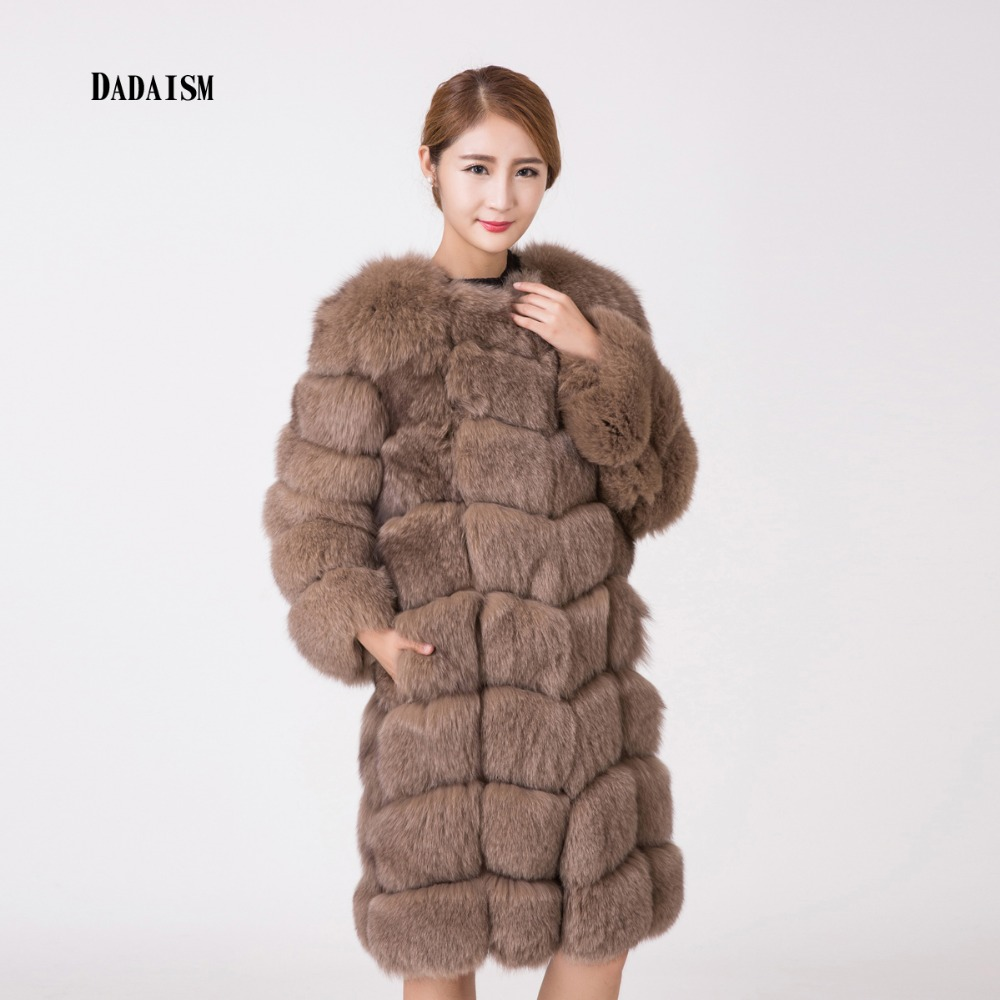 2016 new fox fur coat ladies winter warm fur coat