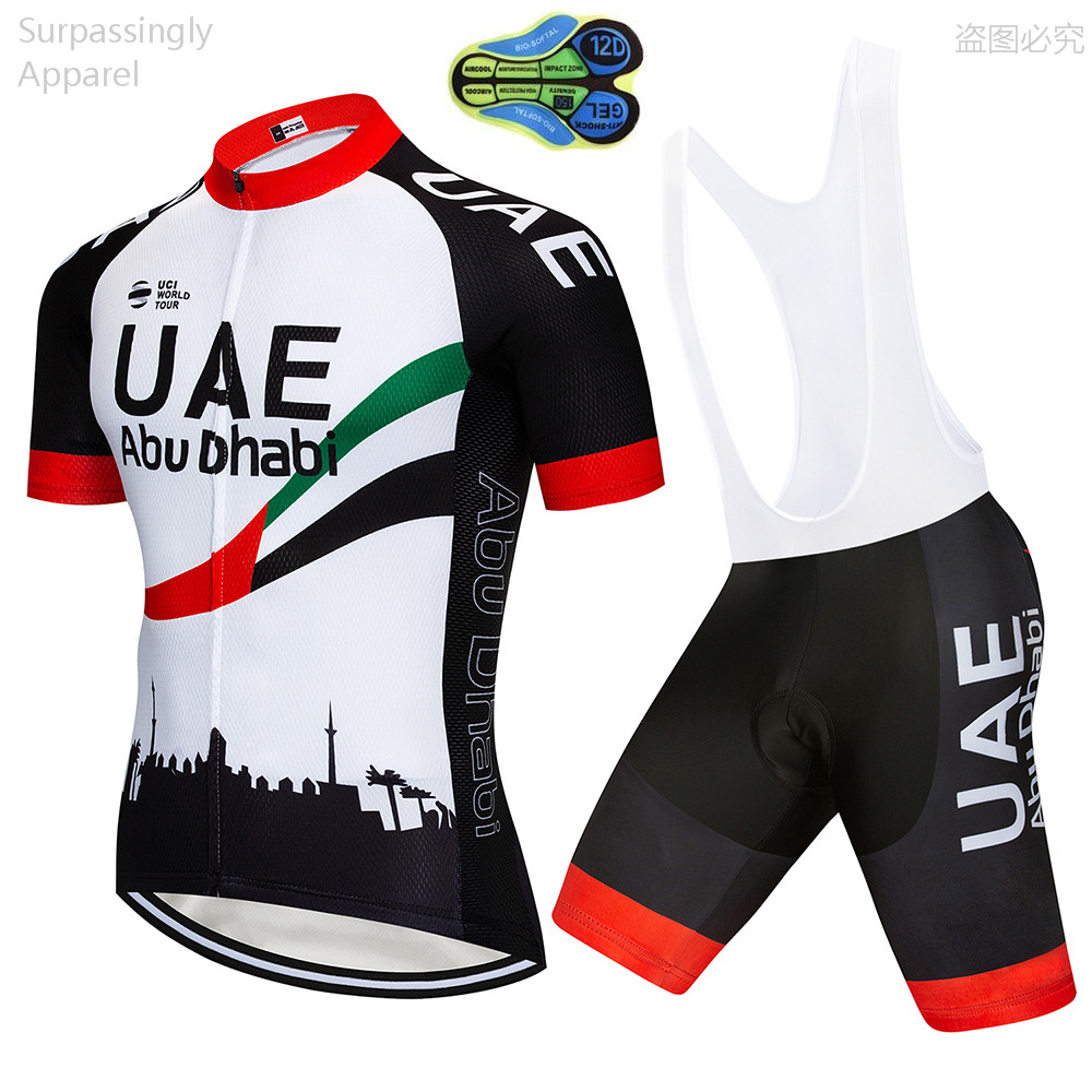 2018 TEAM UAE Cycling Clothing Bike jersey 9D pad shorts set Ropa Quick Dry  Mens summer tops pro BICYCLING Maillot Culotte 2767e6ca5