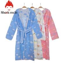 Хлопковый банный халат для новорожденных; Детская Хлопковая одежда для сна с капюшоном; пляжное банное полотенце для младенцев; муслиновая одежда для сна с рисунком