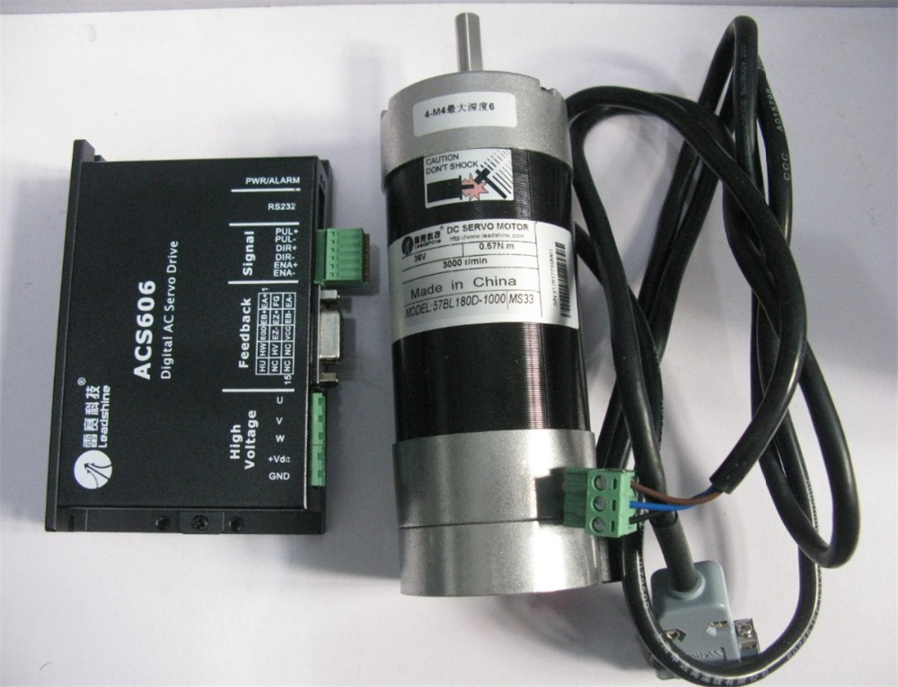 Leadshine 180w Brushless Dc Motor Servo 57bl180d 1000