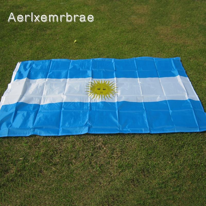 Free Shipping  Aerlxemrbrae Flag  Polyester Argentina Flag 90x150cm Argentine National Flag And Banner