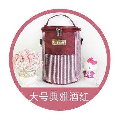 Круглая двойная молния изоляция обеда сумки Сумка Ланч сумка кулер сумка - Цвет: Черный