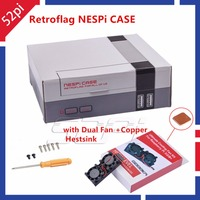 52Pi Retroflag NesPi Case Mini NES CASE With Dual Double Fans Cooling Heatsink For RetroPie Raspberry