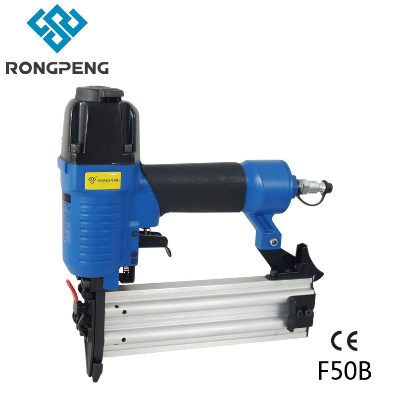 RONGPENG PROFESSIONAL BRAD NAILER GUN F50B WITH QUICK CLEAR NOSE GA 18 F NAILS PNEUMATIC TOOLS 18ga pneumatic brad nailer gun f50 not include the custom tax