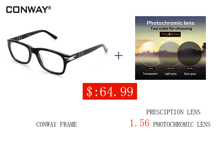 Conway 2017 tous fit femmes verre lunettes cadres pour hommes noir couleur cn00040302 lunettes de prescription optique lunettes