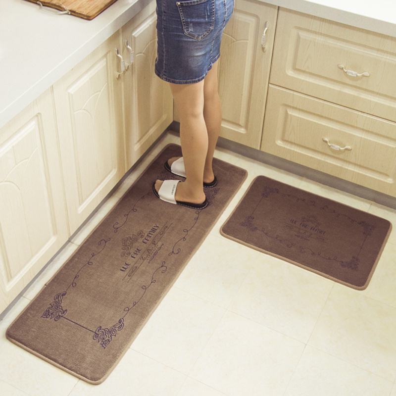 US $16.17 51% OFF|Honlaker European Kitchen Mats Coral Cashmere Memory  Cotton Kitchen Floor Rugs Soft Water Absorption Bathroom Door Mats-in Mat  from ...