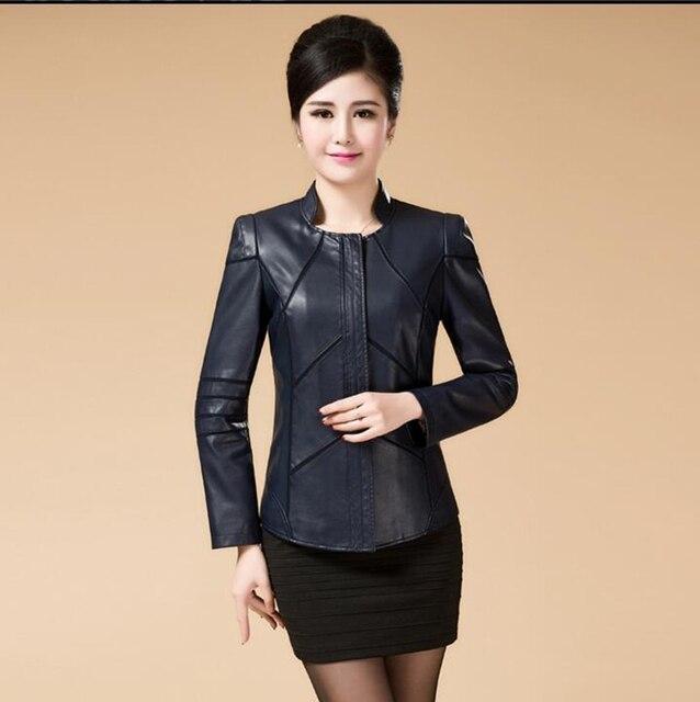 2016 autumn leather clothing female short design  leather clothing women's slim plus size 5XL leather clothing Female coat