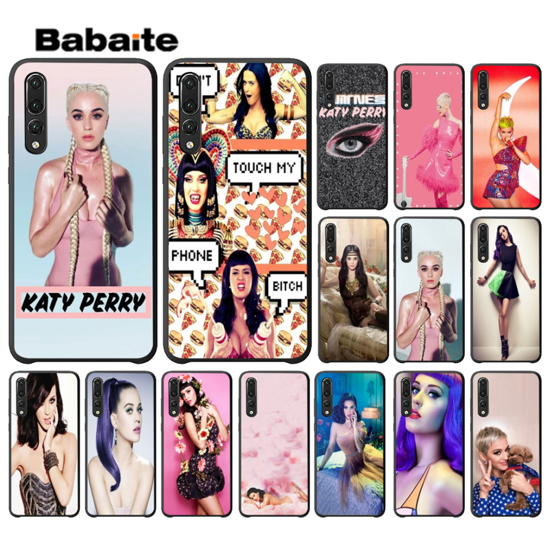 Babaite Katy Perry TPU Soft Silicone Black Phone Case for Huawei Mate9 10 Mate10 Lite NOVE3E P10 Plus P20 Pro Honor10 View10 in Half wrapped Cases from Cellphones Telecommunications