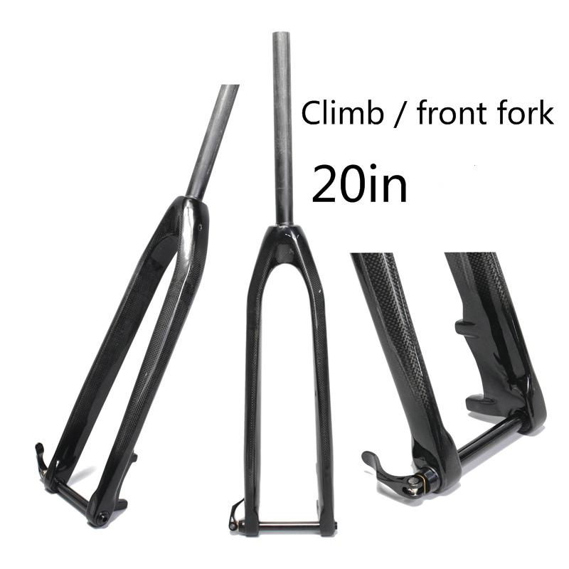 Full carbon front fork20in mountain bike mtb carbon fork Bicycles Rigid Tapered Shaft Hub 15mm Carbon Fork super 1-1/8 novatec d881 d882 mtb bike hubs fr am mountain bike disc hubs 15 mm rear hub front 12 x142 barrel shaft hub 32 holes