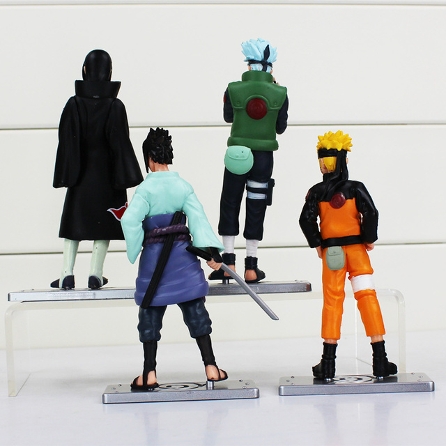 Naruto 4Pcs/Set Kakashi Uchiha Sasuke PVC Figure Toy