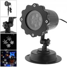 Waterproof LED Projector Light with Stand,Snowflake Effect Landscape Lamp for Outdoor/Indoor Christmas/Holiday/Stage Decoration цена и фото