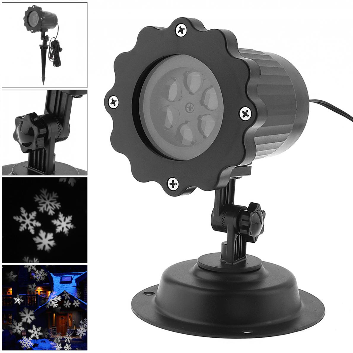 Waterproof LED Projector Light with Stand,Snowflake Effect Landscape Lamp for Outdoor/Indoor Christmas/Holiday/Stage Decoration