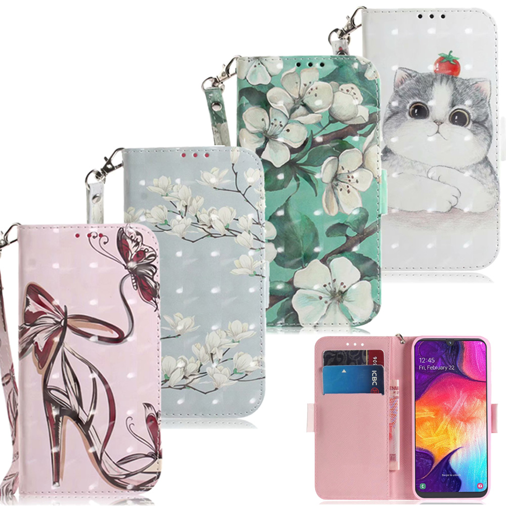 3D Flower <font><b>Leather</b></font> <font><b>Wallet</b></font> Bag For <font><b>Samsung</b></font> Galaxy S10 S9 S8 A6 A7 A9 A10 A20 A30 A40 A50 J4 J6 Plus <font><b>M10</b></font> M20 M30 <font><b>Case</b></font> Cartoon Cover image
