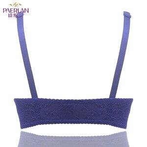Image 4 - Paerlan underwear bra push up sexy sutiã frontal encerramento copo grosso verão rendas confortável fio livre mulher ajustada correias de uma peça