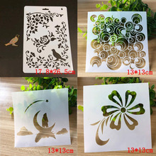 4pc Template Drawing Moon Stencils Painting Tools Photo Album Ruler For Kids Scrapbooking Diary Bullet Journal Stencils Plastic