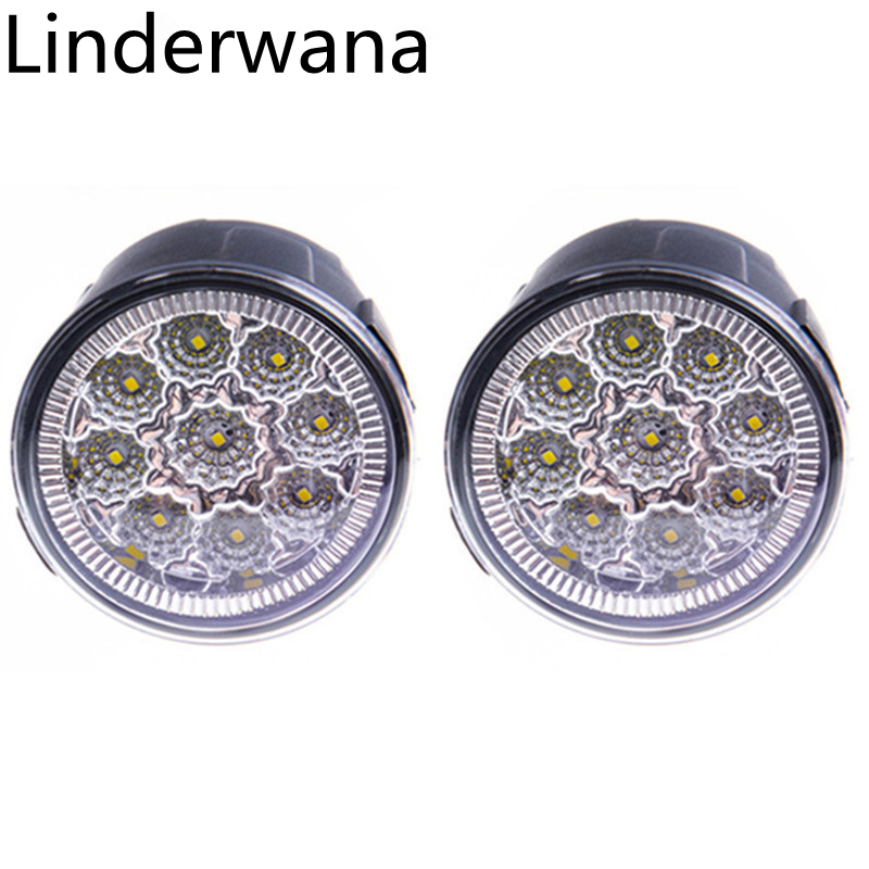 Pour Nissan Tiida Note Juke Patrouille Murano Cube X-Sentier Présage Rogue Versa haute luminosité Led Lumière de Brouillard DRL lampes 2 pcs