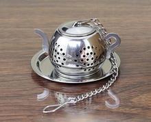 Fashion Hot MINI Cute Stainless Steel Tea Infuser Pendant Design Home Office Tea Strainer Gift Teapot Type Creative Tea Accessor