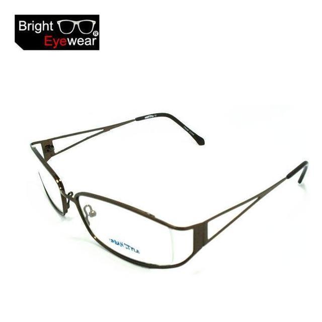 Высококачественной Нержавеющей Стали Металлические Оптический Eyeglasse Очки Очки Очки По Рецепту rx-состоянии Рамки Модель #52 Золото/кофе