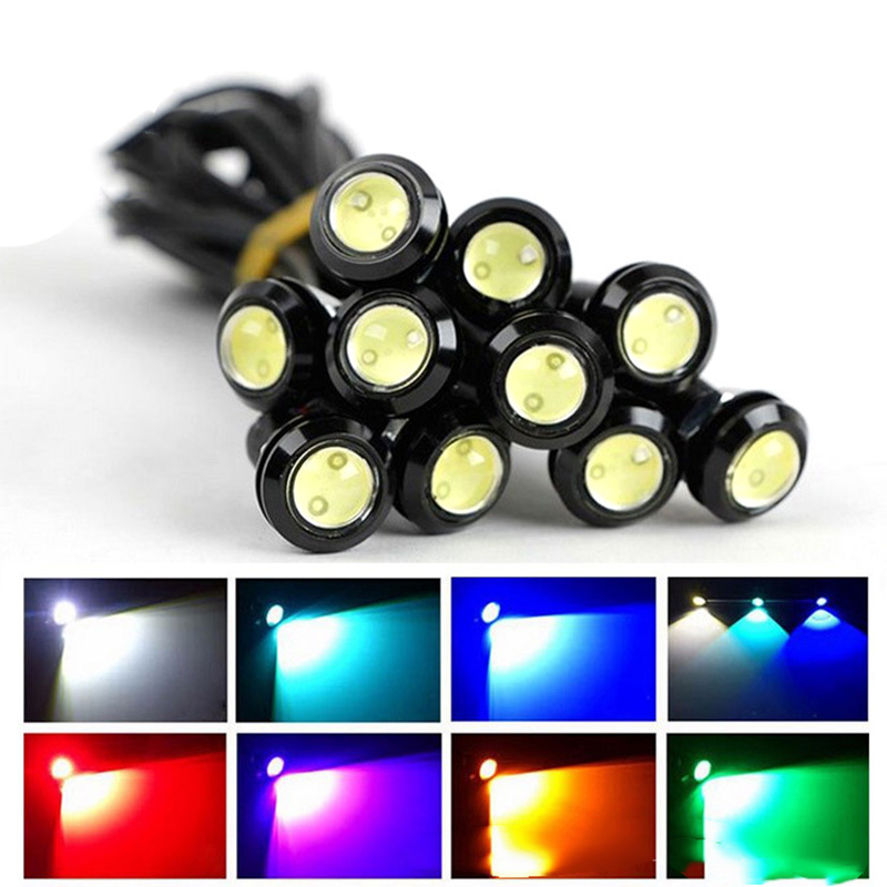 1 pcs 18 MM 9 W Led Eagle Eye DRL Daytime Running Lights Sumber Backup Membalikkan Lampu Sinyal Parkir Tahan Air