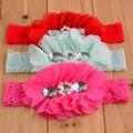 Baby Toddler Girl Chiffon Flower lace Headband Rinestones Pearls chic rosettes headwear Photo Prop hair accessories 300pcs/lot