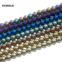 Free Shipping 8 Colors Natural Stone Hematite Round Loose Beads  For Jewelry Making Diy Bracelet Necklace 6 8 10 MM Pick Size free shipping 20 holes hole size 1 10 3 00mm half round shape draw plate jewelry tungsten drawplates