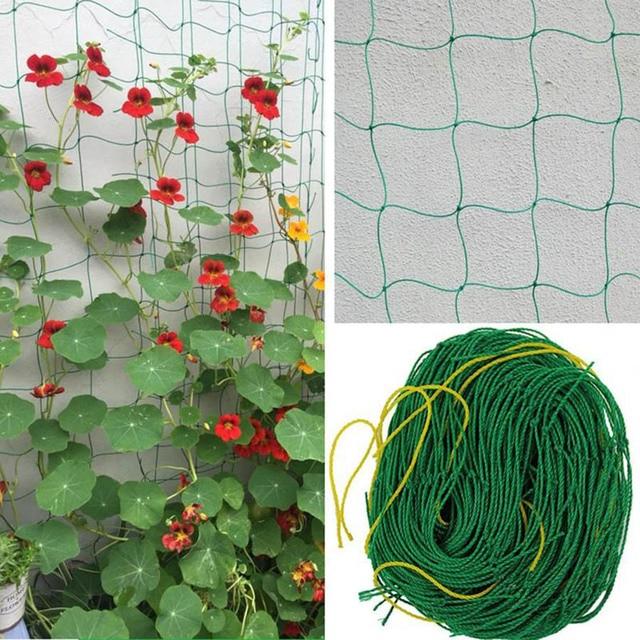 1.8m*1.8m Garden Fence Nylon Net Plant Growth Climbing Frame Fence Lattice  Gardening