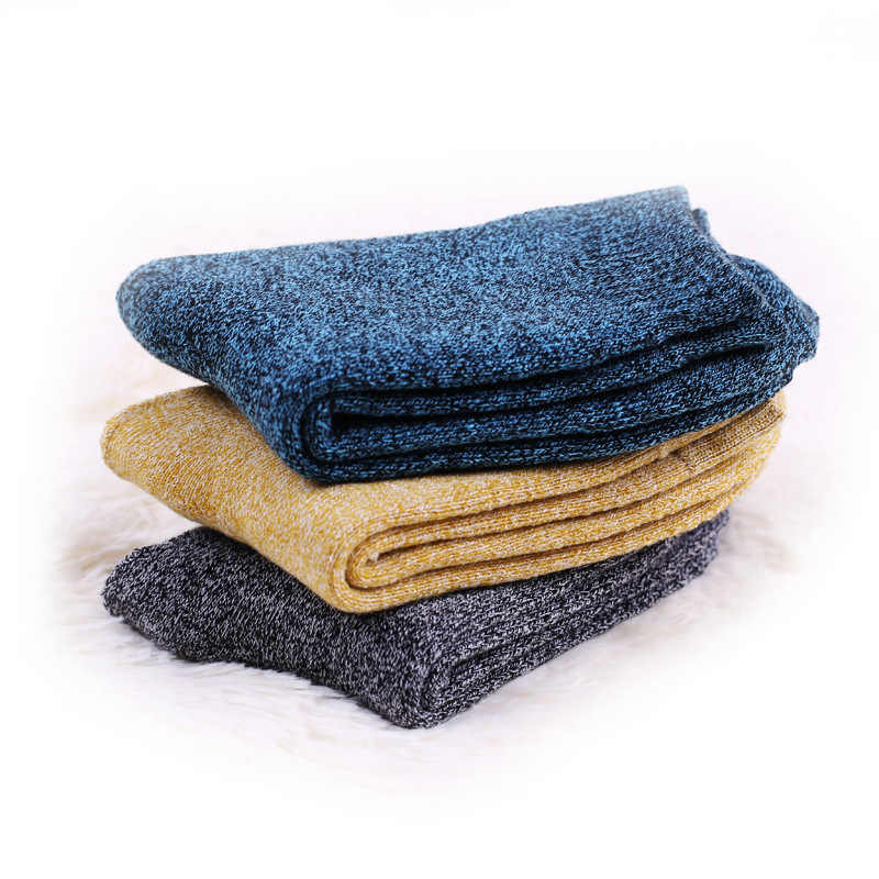 5 Pairs לעבות גברים של צמר גרבי כותנה מגבת להתחמם חורף גרבי זכר עבה תרמית שלג גרבי Calcetines Meias grossas מתנה