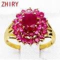 18 K anel de Ouro rosa Natural Rubi pedra Preciosa Jóia anéis de Jóias Finas mulher Engagement Anniversary