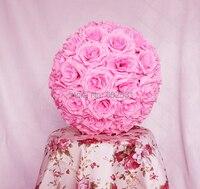 30センチ匂い玉ローズボール大きなバラ花びら花嫁保持花ウェディングキスフラワーボールパーティー/ホームデコレーションflowefree無料