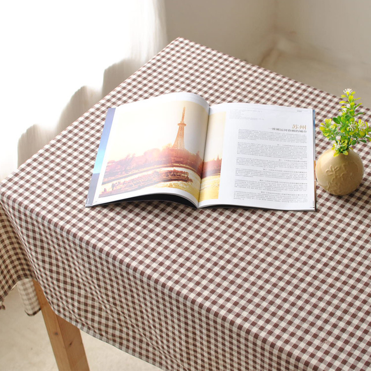 Lattice Minimalist Style, American Style Coffee Table Cloth Tablecloth Tea Table  Cloth Fabric Can Be
