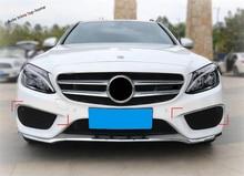 Yimaautotrims For Mercedes Benz C Class W205 2015 2016 2017 2018 Front Fog Lights Lamp Eyelid Eyebrow Bumper Strip Cover Trim yimaautotrims auto accessory front fog lights lamp eyelid eyebrow cover trim for mercedes benz c class w205 sedan 2015 2018