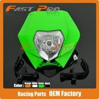 Motorcycle Dirt Bike Supermoto Universal Headlights Headlamp StreetFighter For KX125 KX250 KXF250 KXF450 KLX200 KLX250 KLX450