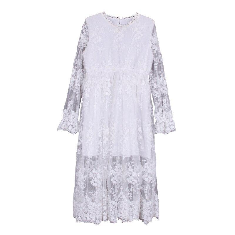 Image 5 - 2019 New Children White Lace Dress Baby Princess Dress Summer Girls Dress Kids Maxi Dress Toddler Floral Clothes Beautiful,#5132Dresses   -