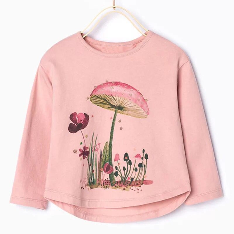 Grils-Clearance Flower-Tops T-Shirt Long-Sleeve Print Autumn Kids Children's And