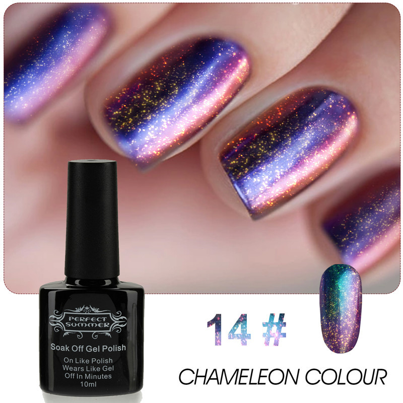 Perfect Summer Gel Polish Chameleon LED UV Nail Gel Lacquer Long Lasting 10ml High Quality Nail Gel Varnish жидкость domix green professional nail gel polish remuver