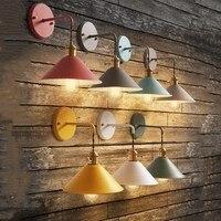 Knop schakelaar Retro led Industriële Vintage Wandlampen Wandlamp Home Decor Lamp E27 wandlamp slaapkamer licht Wandkandelaar-in Wandlampen van Licht & verlichting op