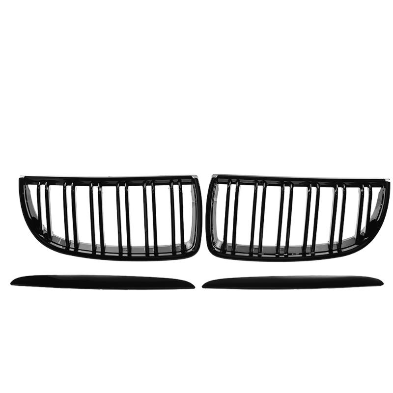 VODOOL 1 Pair Front Kidney Grille for BMW E91 Car Racing Grille Black For BMW E90