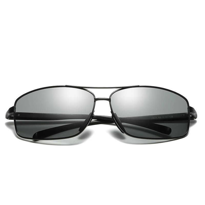 03f658ca9f2 ... 2018 New Men s Photochromic Polarized Sunglasses Anti-UV Cycling  Fishing Driving Outdoor Riding Eyewear UV400 ...