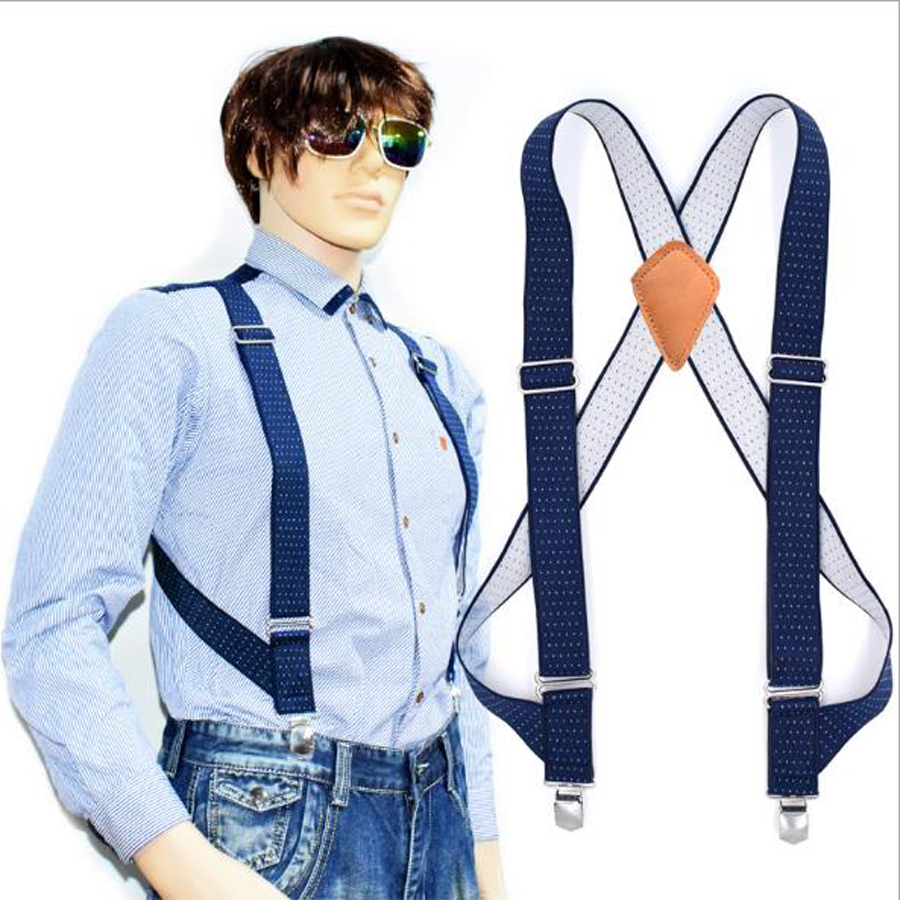 JIERKU Suspenders Man's Braces Genuine Leather Suspenders Outdoor Work Suspensorio Trousers Strap Father/Husband's Gift  YT002