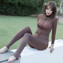 Sexy lingerie Bodysuits hot Erotic open crotch elasticity mesh transparent body stockings Fetish underwear costumes