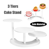 NEW White 3 Tiers Cake Stands Plastic Cupcake Dessert Party Display Holder Cake Decorating Tools Wedding Birthday Decoration