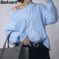 BeAvant Knitting Pullover Autumn Winter Long Sleeve 2017 Sweater Women Pull Femme Streetwear Soft Jumper