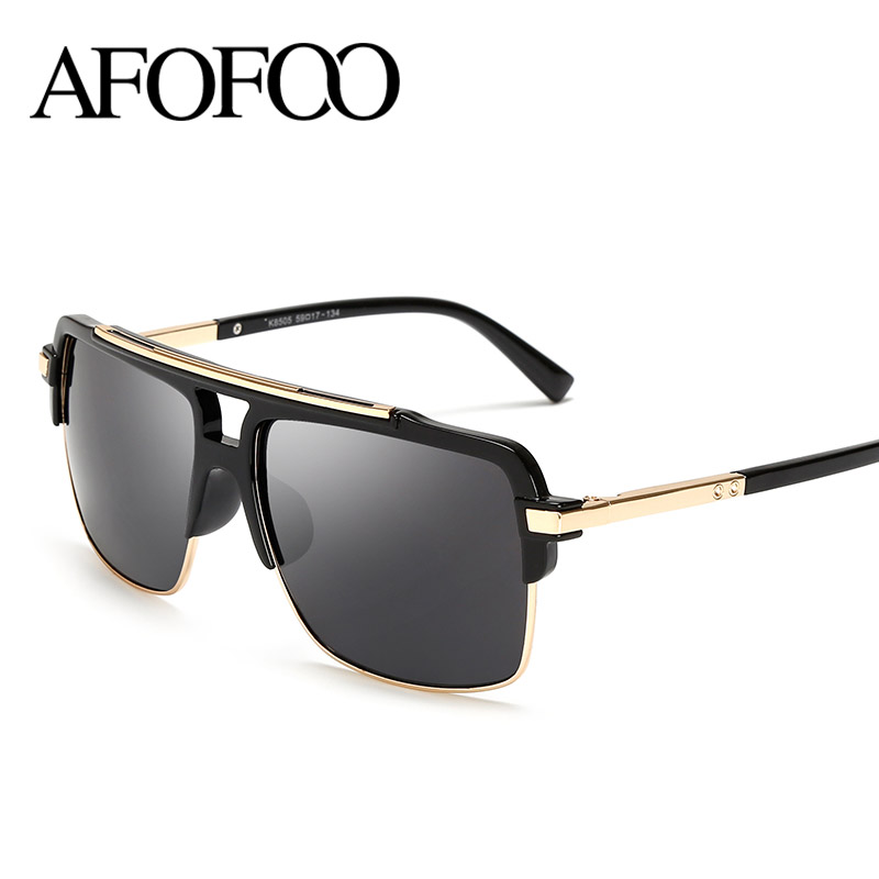 Square Framed Fashion Glasses : AFOFOO Brand Design Sunglasses Women Men Fashion Square ...