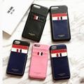 Coréia moda tarja tb couro case para iphone 7 7 plus 6 6 além de thom browne new york phone case
