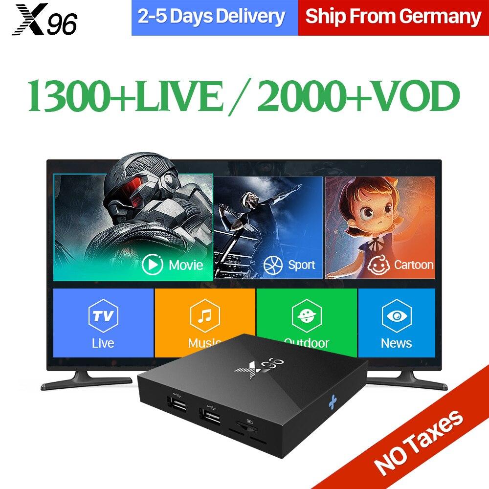 QHDTV 1 Year Arabic IPTV Box X96 Android 6.0 TV Box Smart WIFI 4K H.265 Set Top Box Europe French Sweden IPTV Box Media Player