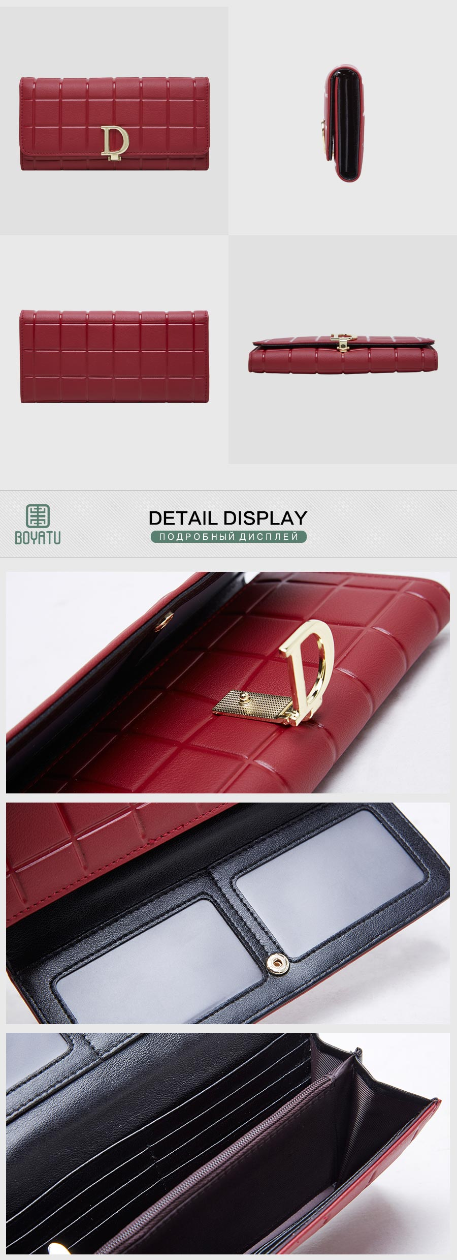 640dc58c6 Detail Feedback Questions about Famous Brand Women Leather Wallets ...