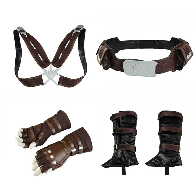 Avengers 3 Infinity War Costume Captain America Steven Rogers Cosplay Gloves Belt Strap Props Men Halloween Party Accessories